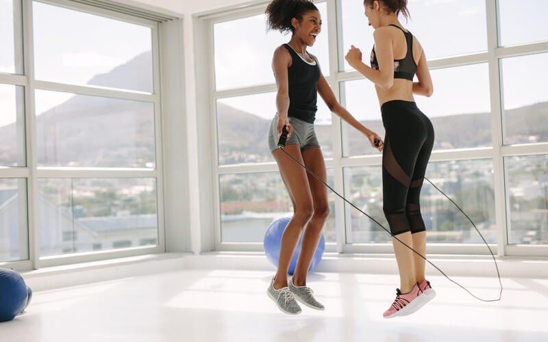 workout. De voordelen van touwtjes pringen