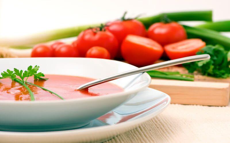 zelfgemaakte tomatensoep