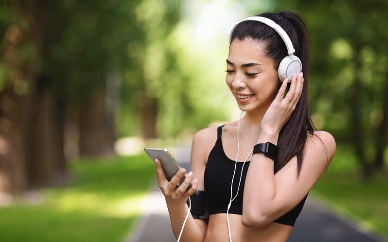 joggen met smartphone